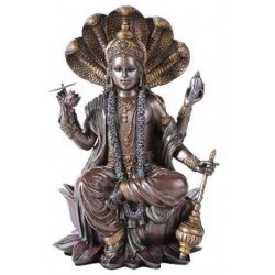 Vishnu Bronze Resin Hindu God Statue LABEShops Home Decor, Fashion and Jewelry Direct to You
