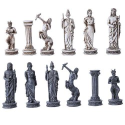 Greek Mythology Gods Chess Set with Glass Board LABEShops Home Decor, Fashion and Jewelry