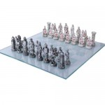 Crusader vs Muslim Chess Set with Glass Board at LABEShops, Home Decor, Fashion and Jewelry