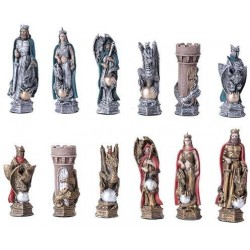King Arthur Color Chess Set with Glass Board LABEShops Home Decor, Fashion and Jewelry