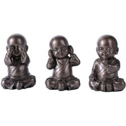 No Evil Monks Set of 3 Statue LABEShops Home Decor, Fashion and Jewelry