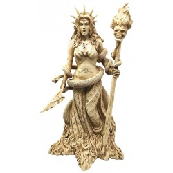 Hecate Greek Goddess of the Underworld Resin Statue LABEShops Home Decor, Fashion and Jewelry