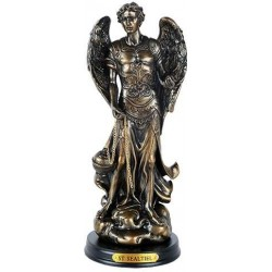 Archangel St Sealtiel Bronze Resin Christian 8 Inch Statue