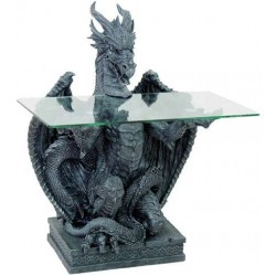 Dragon Glass Top Side Table LABEShops Home Decor, Fashion and Jewelry