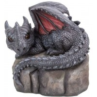 Garden Dragon on Rock Statue