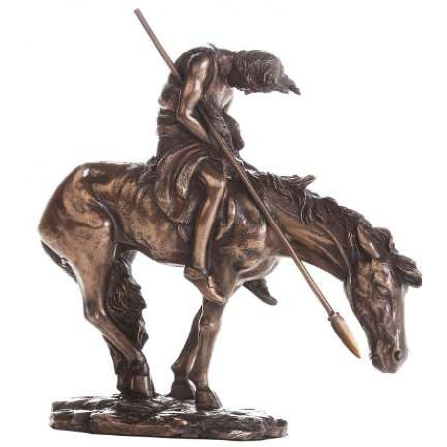 End Of The Trail Indian Warrior Statue At LABEShops Home Decor Fashion And Jewelry