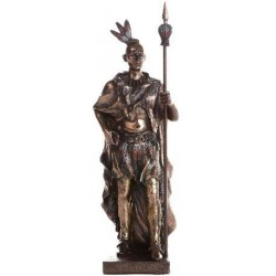 Indian Warrior with Spear Statue LABEShops Home Decor, Fashion and Jewelry