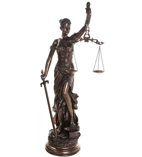 Lady Justice 48 Inch Statue in Bronze Resin