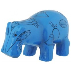 Hippopotamus Blue Egyptian Statue LABEShops Home Decor, Fashion and Jewelry
