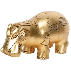 Hippopotamus Gold Leaf Egyptian Statue LABEShops Home Decor, Fashion and Jewelry