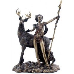Diana Artemis Greek Goddess of the Hunt Statue with Deer LABEShops Home Decor, Fashion and Jewelry