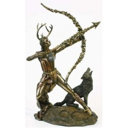 Diana Artemis Greek Goddess of the Hunt Statue with Wolf LABEShops Home Decor, Fashion and Jewelry