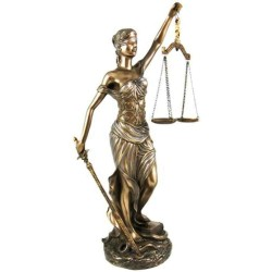 La Justica 12 Inch Lady Justice Statue in Bronze Resin LABEShops Home Decor, Fashion and Jewelry