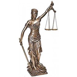 Lady Justice 18 Inch Statue in Bronze Resin LABEShops Home Decor, Fashion and Jewelry