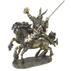 Odin on Horseback Norse God Bronze Statue by Derek W Frost LABEShops Home Decor, Fashion and Jewelry Direct to You