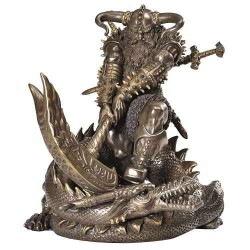 Thor, Norse God Slaying Dragon Statue LABEShops Home Decor, Fashion and Jewelry Direct to You