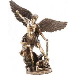 Archangel St Michael 10 Inch Bronze and Gold Statue