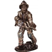 Fireman Rescuing a Child Statue
