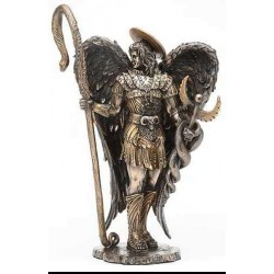 Archangel Raphael Healing Bronze Resin Statue LABEShops Home Decor, Fashion and Jewelry