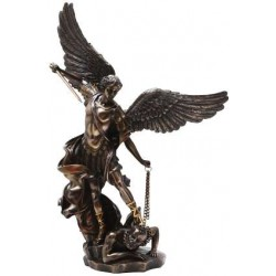 Archangel St Michael Slaying Evil 15 Inch Bronze Statue LABEShops Home Decor, Fashion and Jewelry