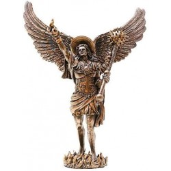 Archangel Uriel Bronze Resin Statue