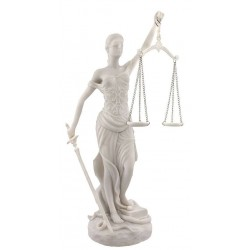 Lady Justice White Marble 10 Inch Statue LABEShops Home Decor, Fashion and Jewelry