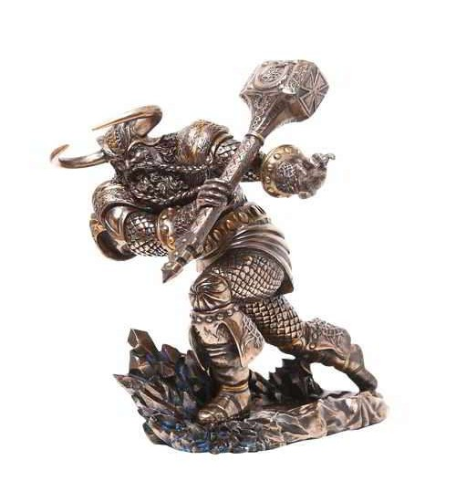 Thor, Norse God Attacking with Hammer Statue