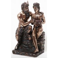 Pan and Daphne Greek Myth Statue