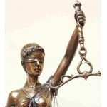 Lady Justice 31 Inch Statue in Bronze Resin