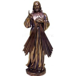 Divine Mercy Jesus Christian Bronze Statue LABEShops Home Decor, Fashion and Jewelry
