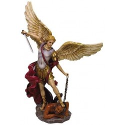 Archangel St Michael Hand Painted Color Christian Statue LABEShops Home Decor, Fashion and Jewelry