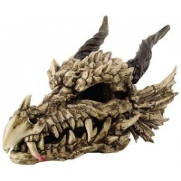 Dragon Skull Large Bone Resin Statue