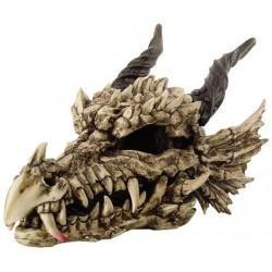 Dragon Skull Large Bone Resin Statue LABEShops Home Decor, Fashion and Jewelry