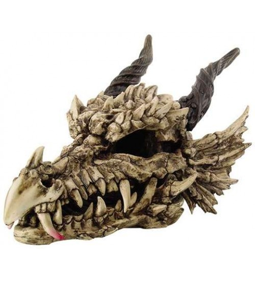 Dragon Skull Large Bone Resin Statue at LABEShops, Home Decor, Fashion and Jewelry