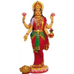 Lakshmi Hindu Goddess of Luck and Wealth Full Color Statue LABEShops Home Decor, Fashion and Jewelry Direct to You