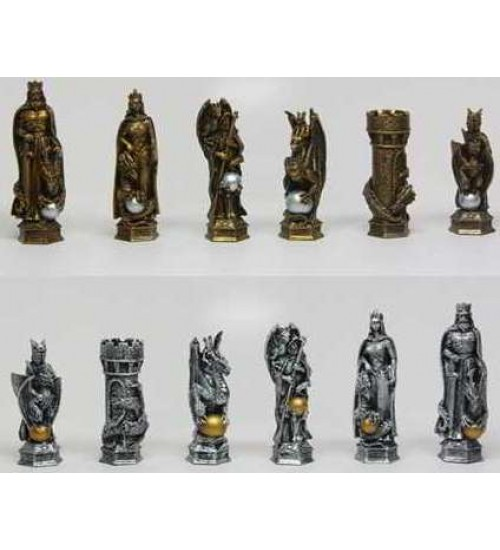 King Arthur Fantasy Chess Set with Glass Board at LABEShops, Home Decor, Fashion and Jewelry
