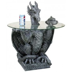 Dragon Side Table with Glass Top LABEShops Home Decor, Fashion and Jewelry