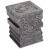 Celtic Cross Lift Top Trinket Box