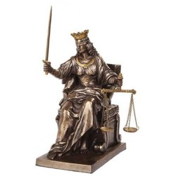 Lady Justice Seated with Scales Bronze Statue LABEShops Home Decor, Fashion and Jewelry
