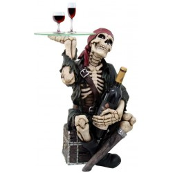 Pirate Skeleton Glass Top Accent Table and Wine Holder LABEShops Home Decor, Fashion and Jewelry