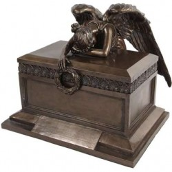 Angel of Bereavement Bronze Memorial Urn LABEShops Home Decor, Fashion and Jewelry