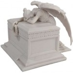 Angel of Bereavement White Memorial Urn at LABEShops, Home Decor, Fashion and Jewelry Direct to You