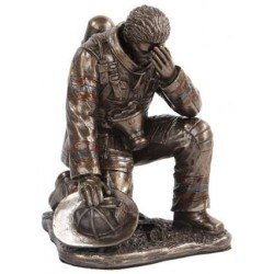 A Firemans Reflection Bronze Statue LABEShops Home Decor, Fashion and Jewelry