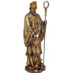 Saint Patrick Bronze Christian Statue LABEShops Home Decor, Fashion and Jewelry