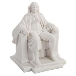 Benjamin Franklin White Marble Statue LABEShops Home Decor, Fashion and Jewelry