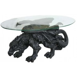 Shire Dragon Glass Topped Coffee Table LABEShops Home Decor, Fashion and Jewelry