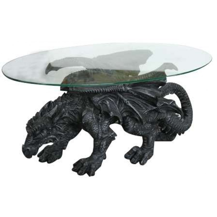 Shire Dragon Gl Topped Coffee Table