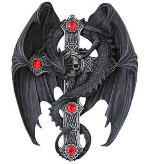 Dragon Wings Cross Medieval Wall Plaque at LABEShops, Home Decor, Fashion and Jewelry