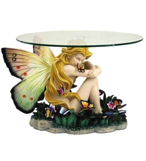 Field of Dreams Fairy Glass Topped Accent Table at LABEShops, Home Decor, Fashion and Jewelry