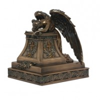 Mourning Angel Bronze Keepsake Memorial Urn